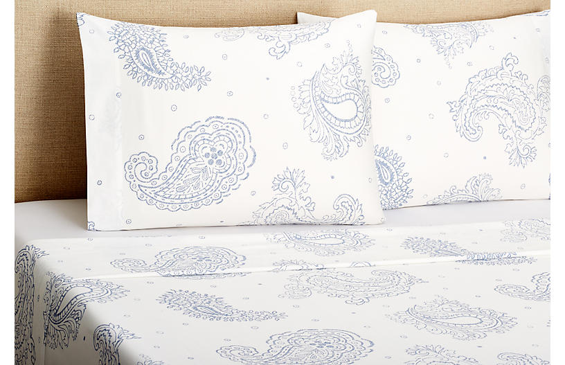 Twin 300 Sateen Paisley Sheet Set