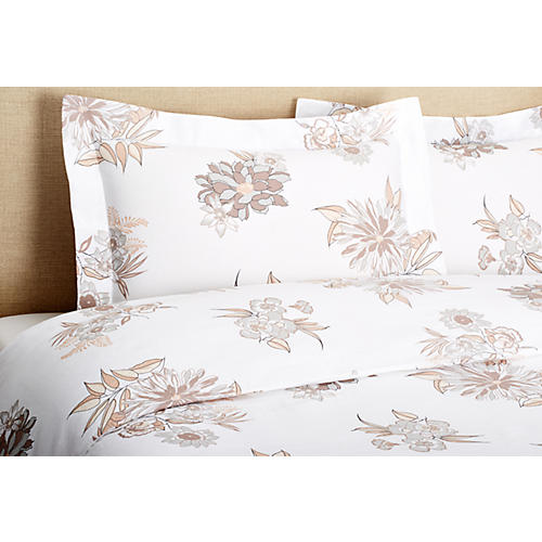 Misto Linen Mini Duvet Set, Flower