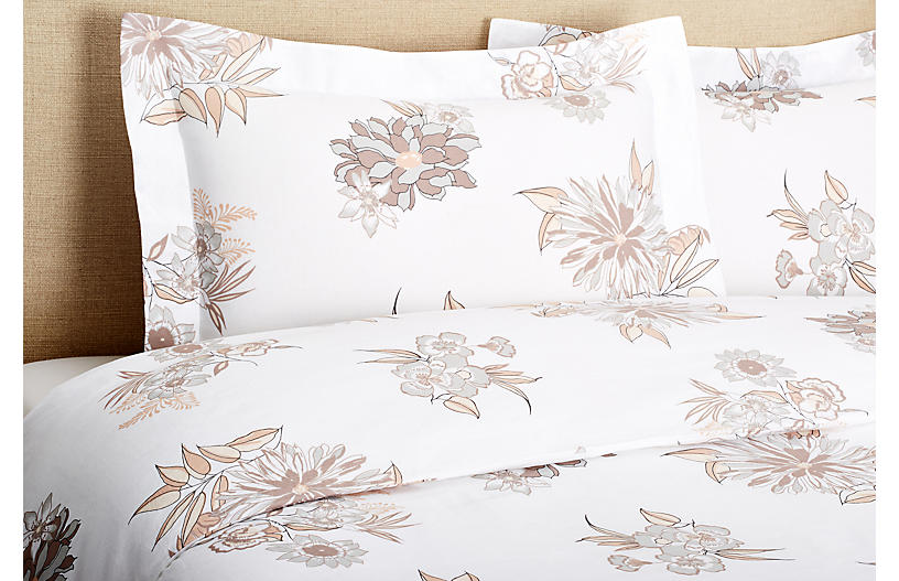 Misto Linen Mini Duvet Set, Flower