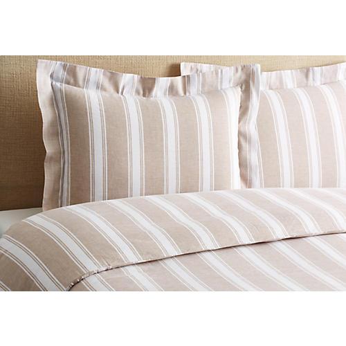 Stripe Duvet Set, Linen