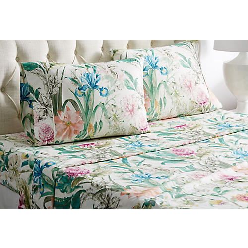 Eternal Garden Sheet Set, Green