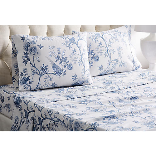Josephine Sheet Set, Blue
