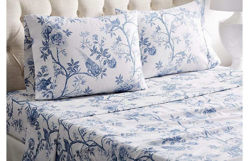 Josephine Sheet Set, Blue
