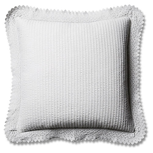Shelly Romance Euro Sham, Gray