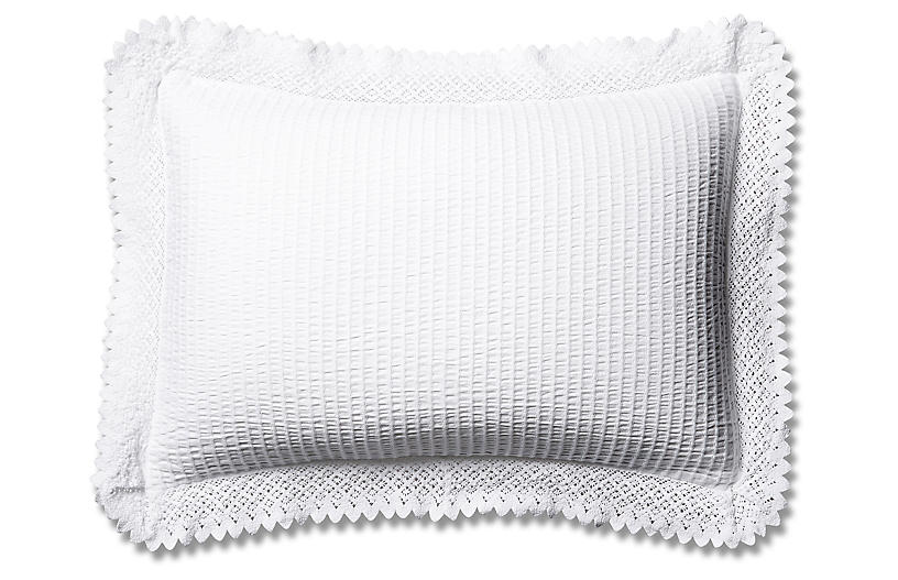 Shelly Romance Sham, White