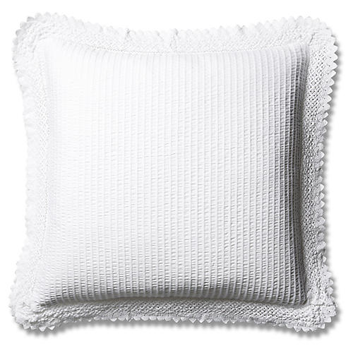 Shelly Romance Euro Sham, White