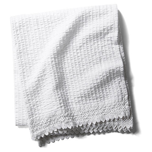 Shelly Romance Throw, White