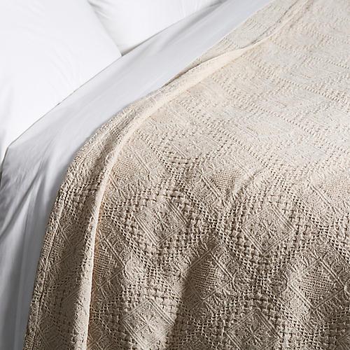 Mosaic Coverlet, Linen