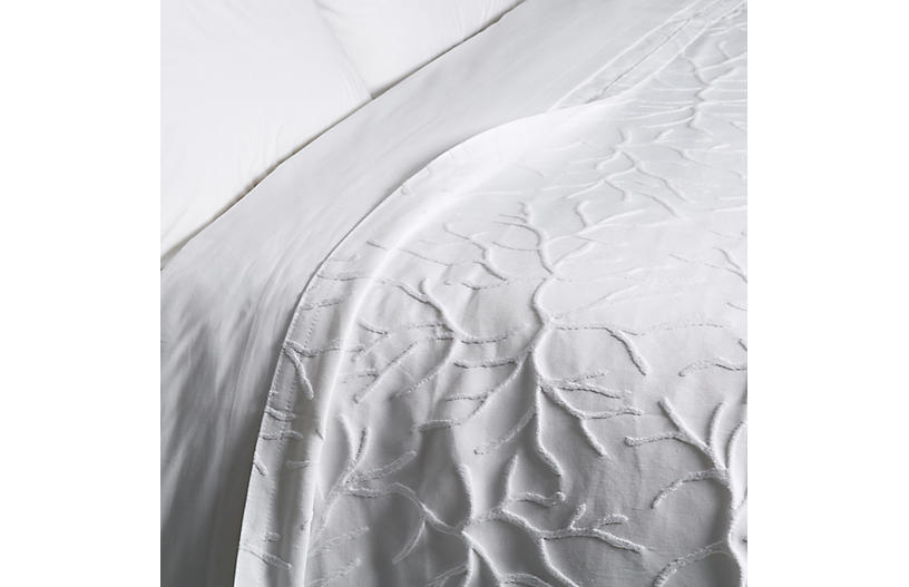Glory Coverlet, White