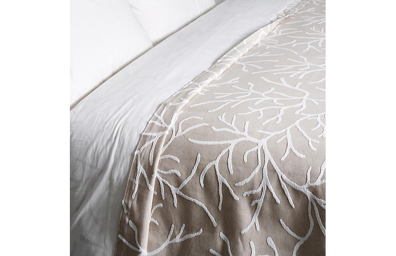 Glory Coverlet, Taupe
