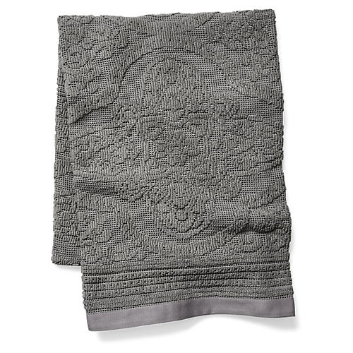 Medallion Blanket, Charcoal