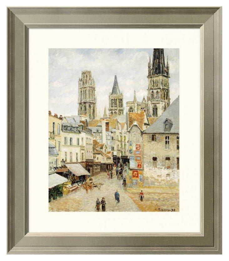 Pissarro, Rue de l'Épicerie in Rouen