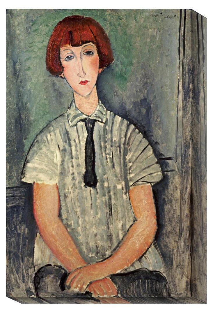 Modigliani, Girl in a Striped Shirt