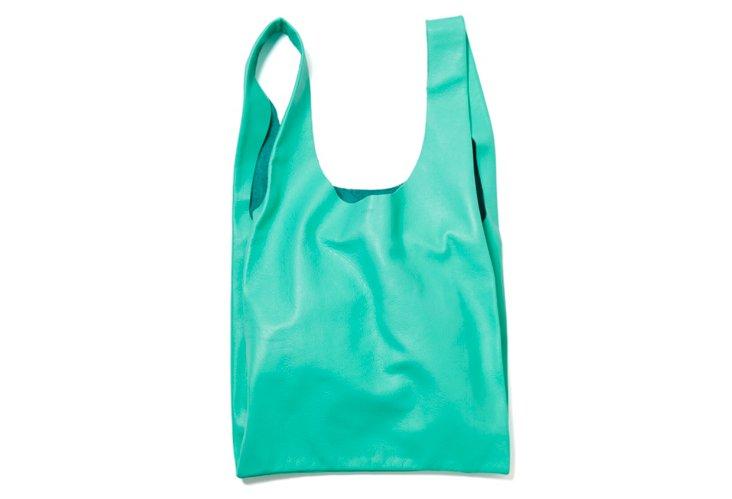 Medium Leather Bag, Mint