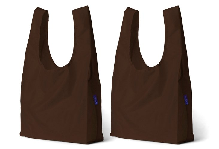 S/2 Standard Totes, Chocolate