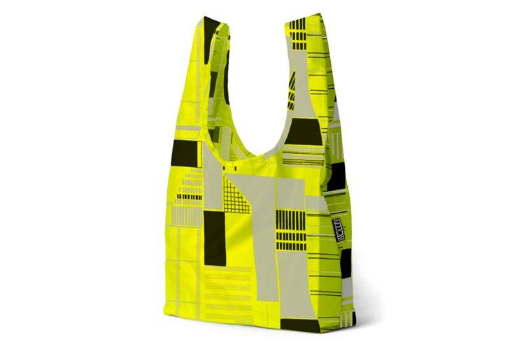 S/2 Totes, Neon Yellow Blocks