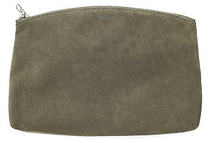 Small Clutch, Olive Suede