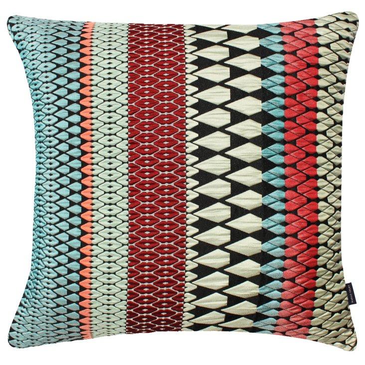 Hope 20x20 Silk-Blended Pillow, Multi