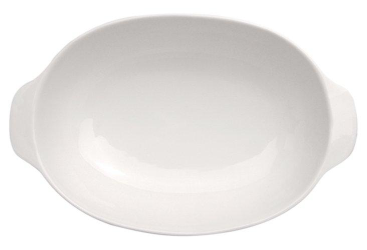 Oval Baking Dish, White