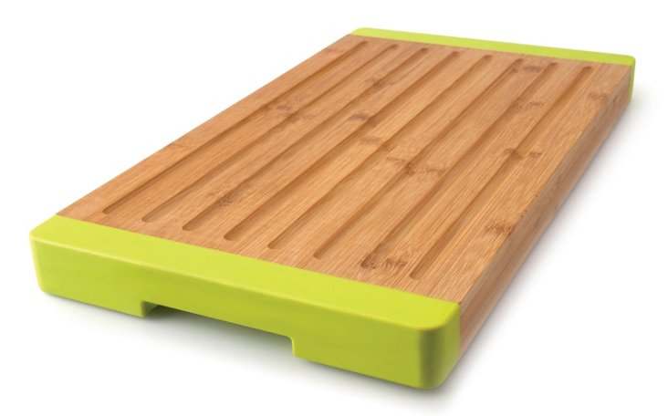 Grooved Bamboo Bread Board, Lime