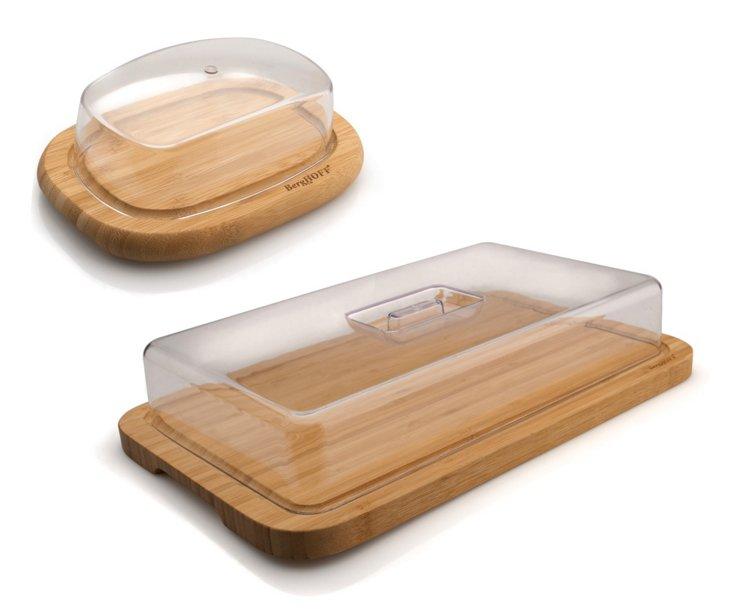 4-Pc Bamboo Prep & Store Set