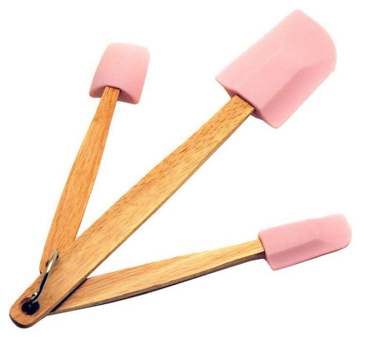 3-Pc Pink Baking Spatula Set