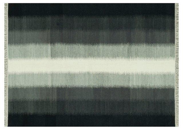 Salem Flat-Weave Rug, Charcoal