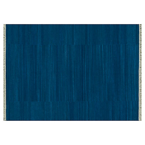Anzio Flat-Weave Rug, Denim