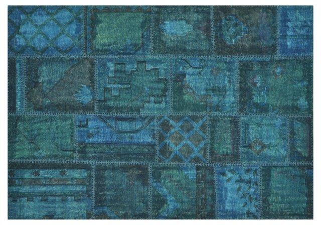 Jamil Rug, Azure/Emerald