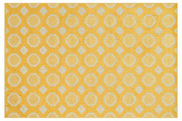 Tibby Rug, Lemon/Ivory