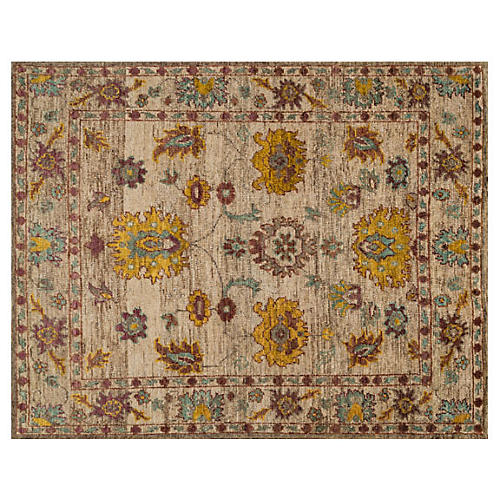 Hand-Knotted Jute Rug, Beige