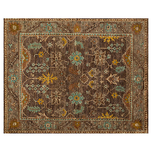 Hand-Knot Jute Rug, Brown/Taupe