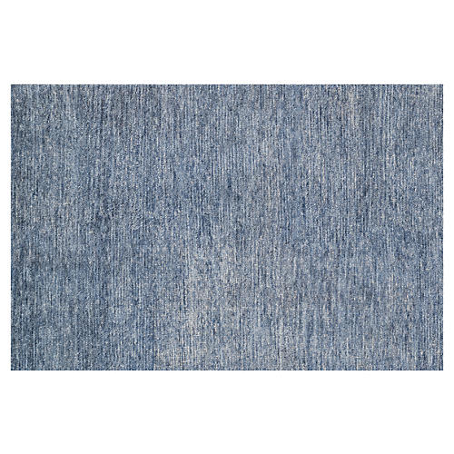 Stella Hand-Knotted Rug, Denim