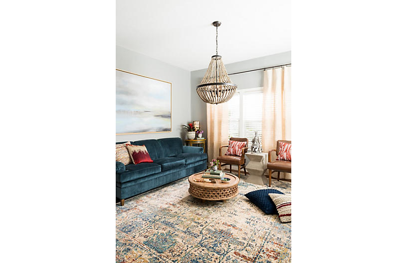 Hester Rug Sand Light Blue Traditional Rugs By Style