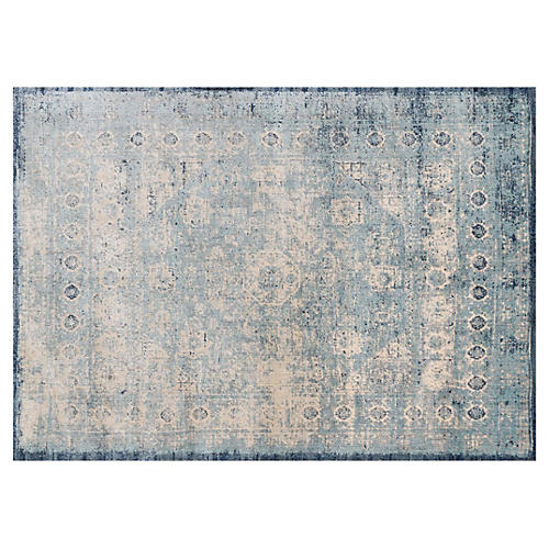 Emilie Rug, Light Blue/Ivory