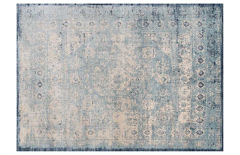 Emilie Rug, Light Blue/Ivory