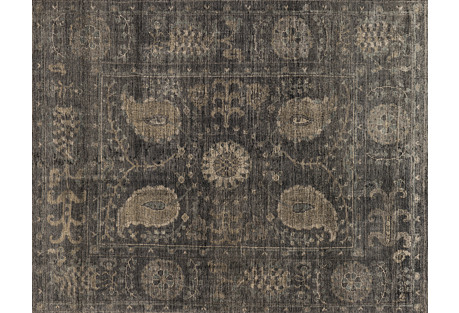 Paola Hand-Knotted Rug, Taupe/Gray