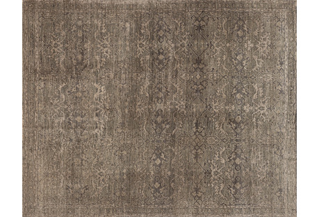 Chanel Hand-Knotted Rug, Fog/Beige