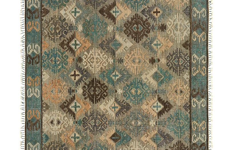 Arundel Flat-Weave Rug, Fog