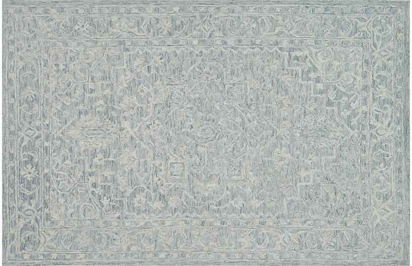 Janet Rug, Slate/Blue