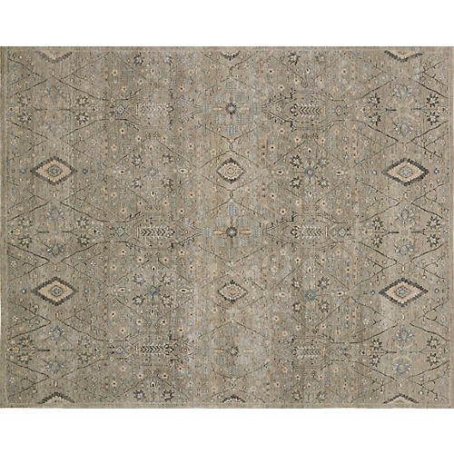 Davenport Hand-Knotted Rug, Gray/Multi