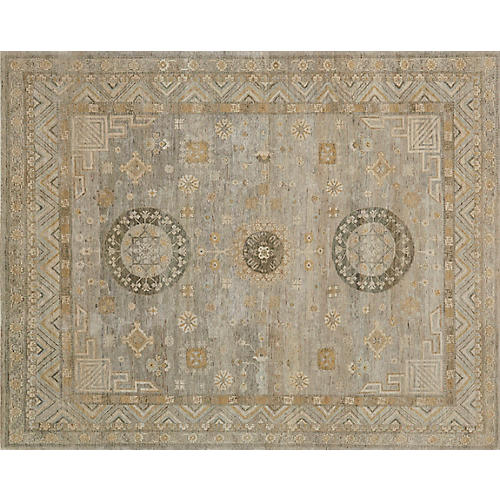 Leonora Hand-Knotted Rug, Tan/Multi