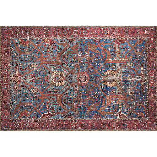 Winston Rug, Blue/Red