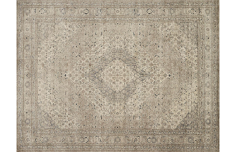 Naqvi Rug, Sand/Ivory