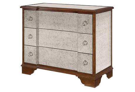 Natalie Mirrored Dresser, Antiqued