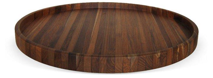 Laminated Teak Wood Round Tray