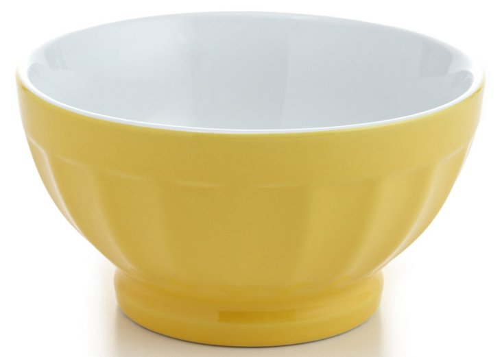 S/4 Large Fluted Bowls, Citrus