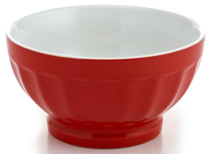 S/4 Large Fluted Bowls, 16 oz