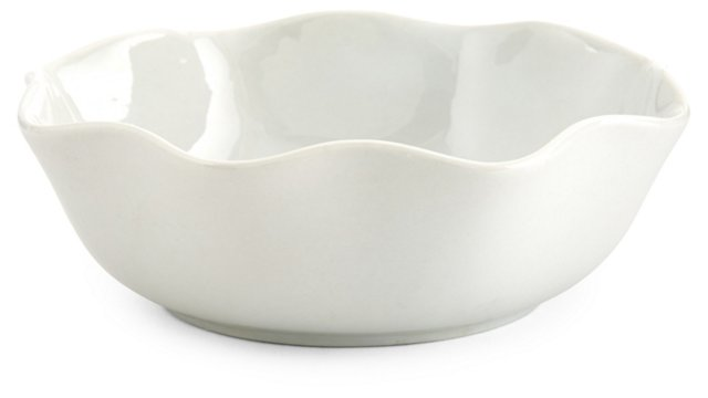 S/4 Wavy Porcelain Bowls