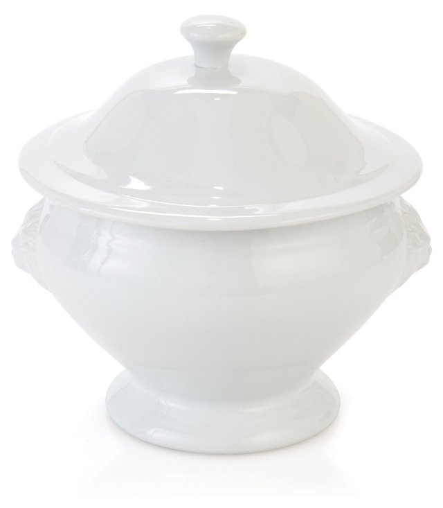 Covered Porcelain Lion's Head Tureen